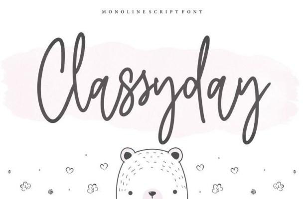 Classyday Monoline Script Font