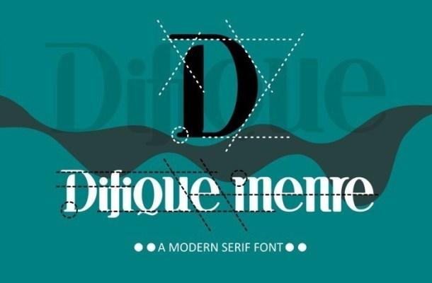 Difique Menre Serif Font