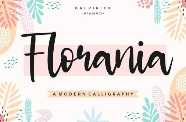 Florania Modern Calligraphy Font