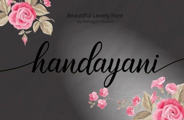 Handayani Lovely Calligraphy Font