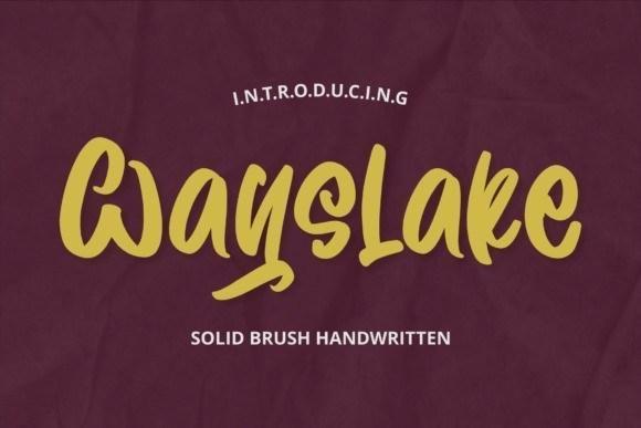 Wayslake Brush Handwritten Font