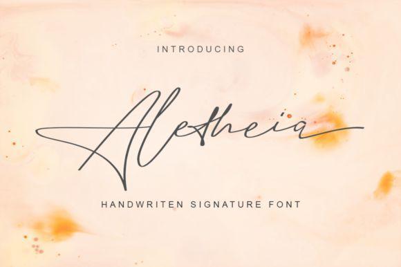 Aletheia Handwritten Signature Font