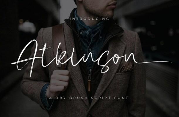 Atkinson Dry Brush Script Font