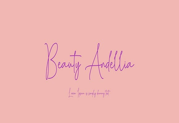 Beauty Andellia Handwritten Font