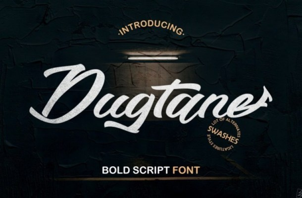 Dugtane Bold Script Font