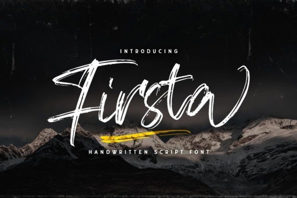 Firsta Brush Font