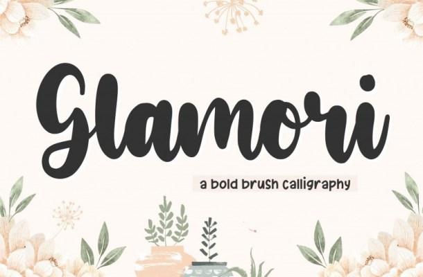 Glamori Bold Script Font