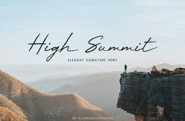 High Summit Signature Font