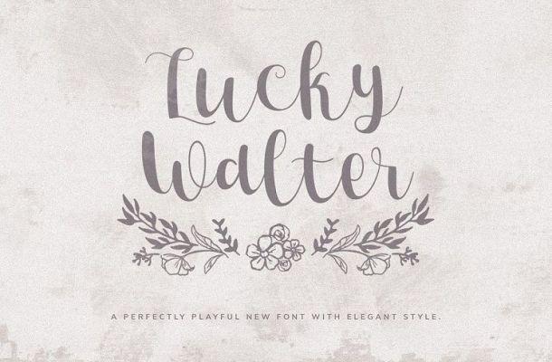 Lucky Walter Handwritten Font