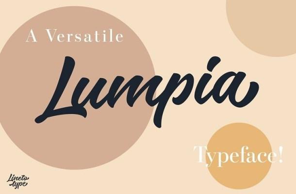 Lumpia Brush Script Font