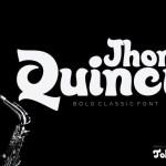 Quincy Jhons Bold Script Font