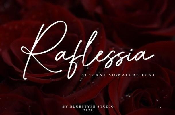 Raflessia Elegant Signature Font