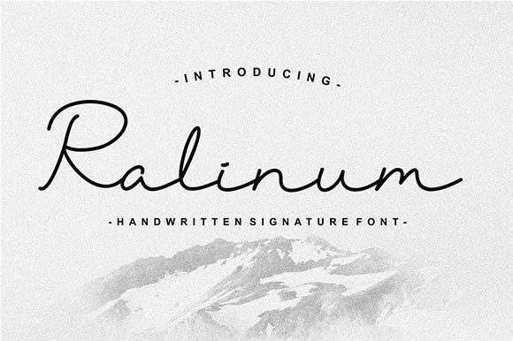 Ralinum Signature Font