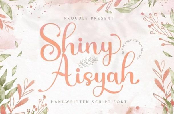 Shiny Aisyah Calligraphy Font