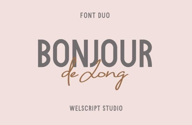 Bonjour de Jong Font Duo