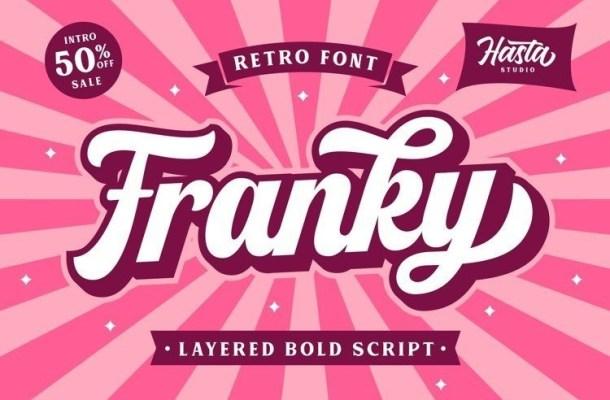 Franky Retro Script Font
