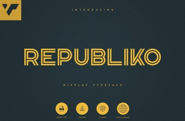 Republiko Display Typeface