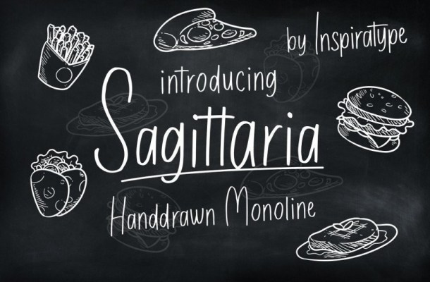 Sagittaria Handrawn Monoline Font