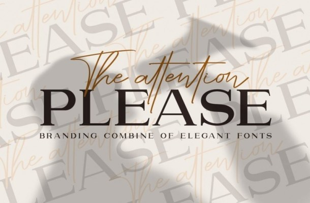The Attention Please Font Duo