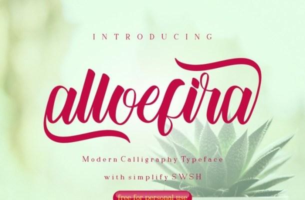 Alloefira Calligraphy Font