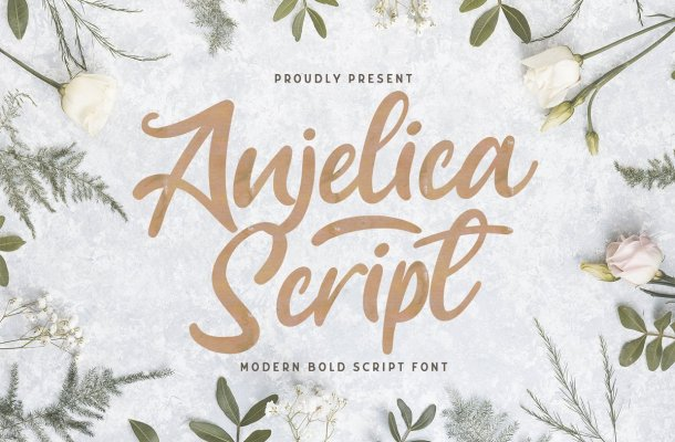 Anjelica Bold Script Font