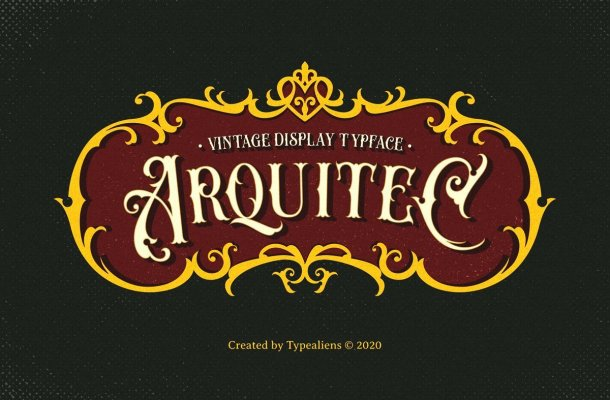 Arquitec Vintage Display Font
