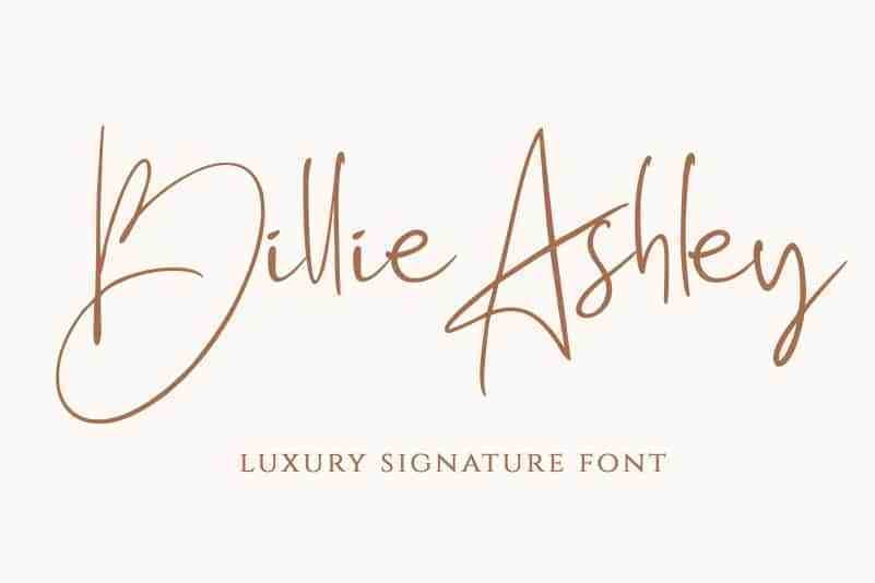 Billie-Ashley-Luxury-Signature-Font-1