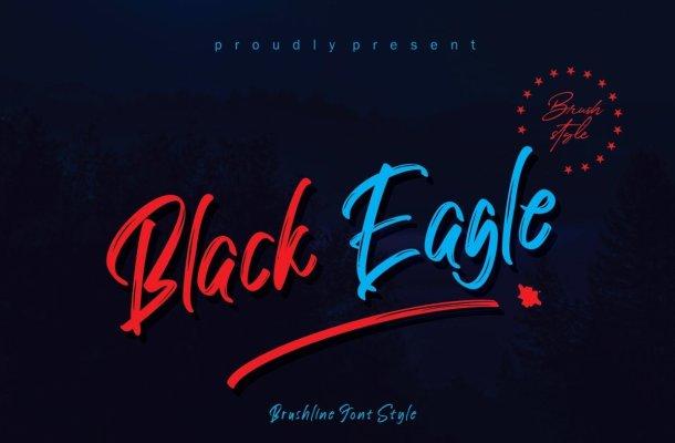 Black Eagle Brush Script Font