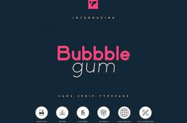 Bubbble Gum Sans Font Family