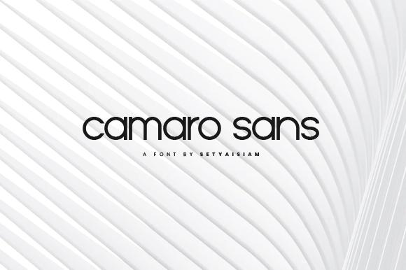 Camaro Sans Serif Font