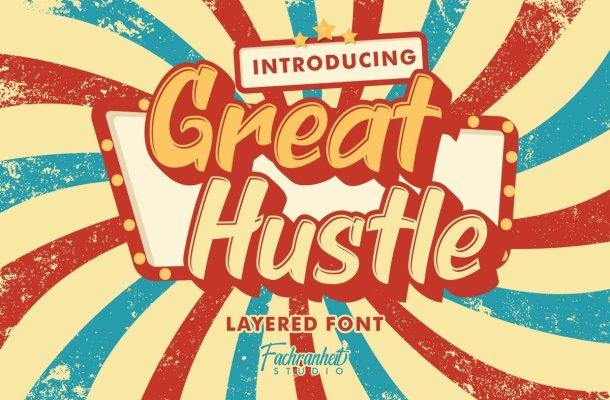 Great Hustle Bold Display Font