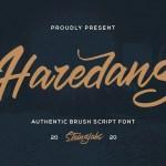 Haredang Bold Script Font