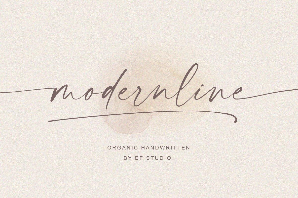 Modernline-Signature-Handwritten-Font-1