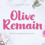 Olive Remain Bold Script Font