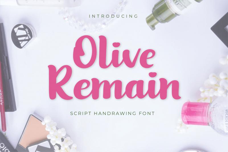 Olive-Remain-Bold-Script-Font