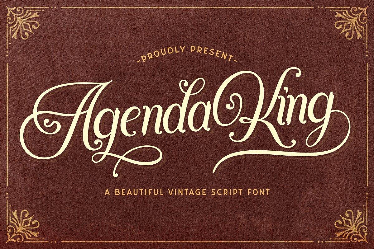Agenda-King-Calligraphy-Vintage-Script-Font-1