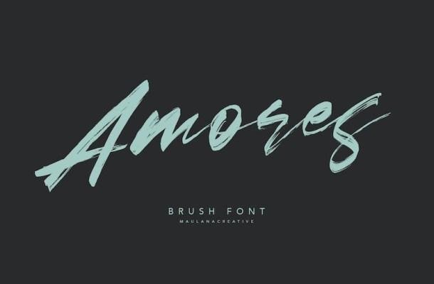 Amores Brush Script Font