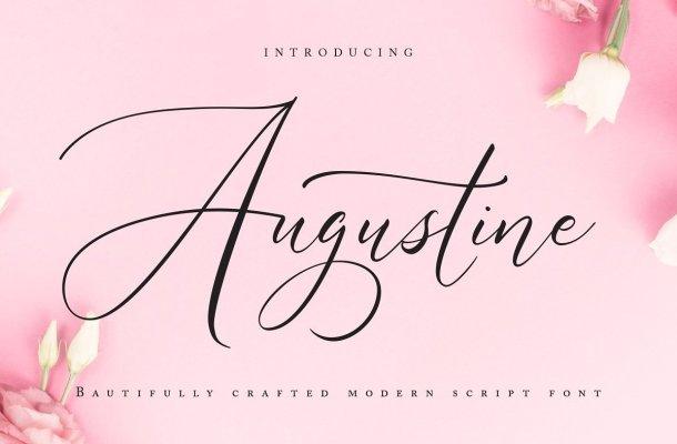 Augustine Calligraphy Script Font