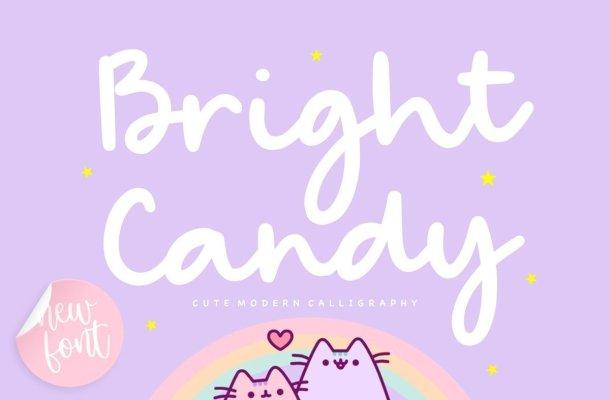 Bright Candy Bold Handwritten Font