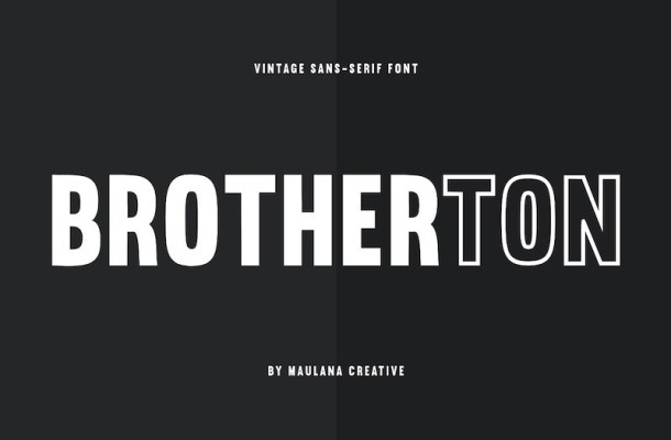 Brotherton Vintage Sans Serif Font