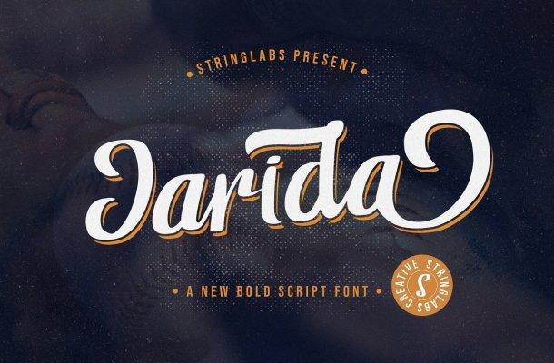 Jarida Bold Script Font