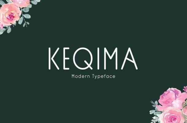 Keqima Sans Serif Typeface
