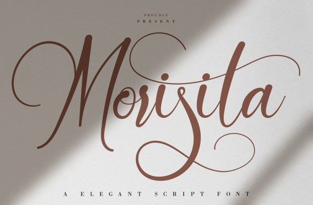 Morisita Calligraphy Script Font