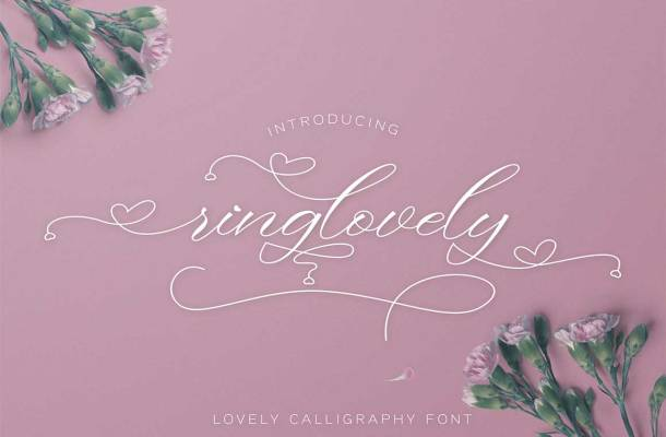 Ringlovely Calligraphy Script Font