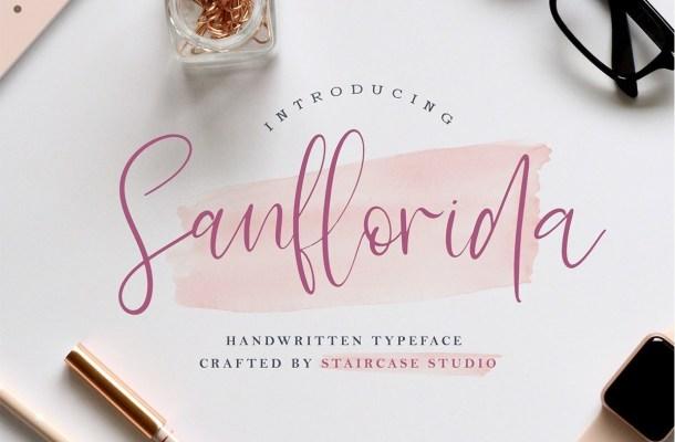 Sanflorida Handwritten Script Font