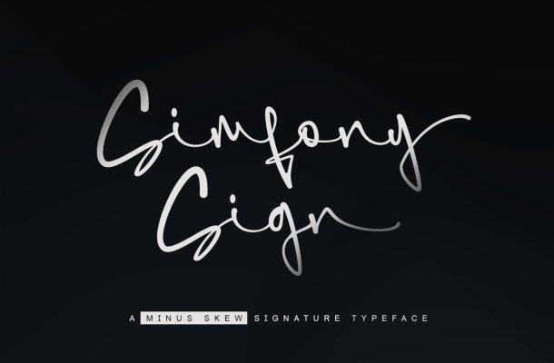 SimfonySign Signature Script Typeface