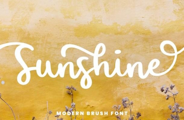 Sunshine Bold Handwritten Script Font
