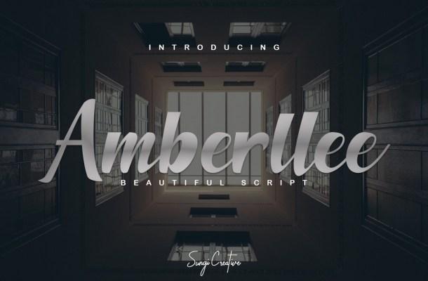 Amberllee Modern Script Typeface