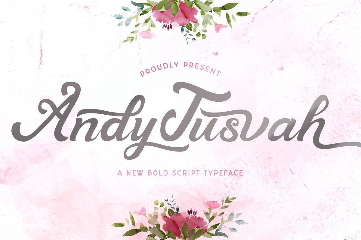 Andy-Tusvah-Bold-Script-Font-1