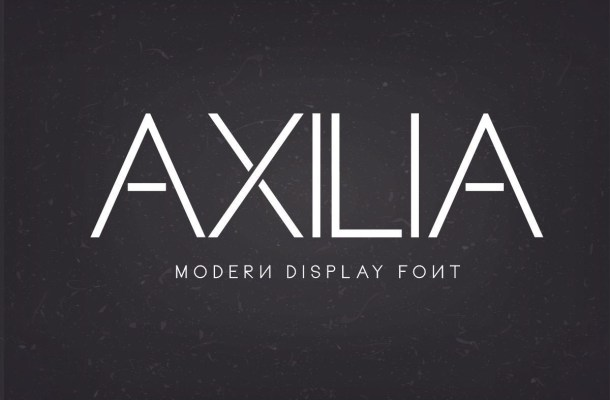 Axilia Modern Display Sans Typeface